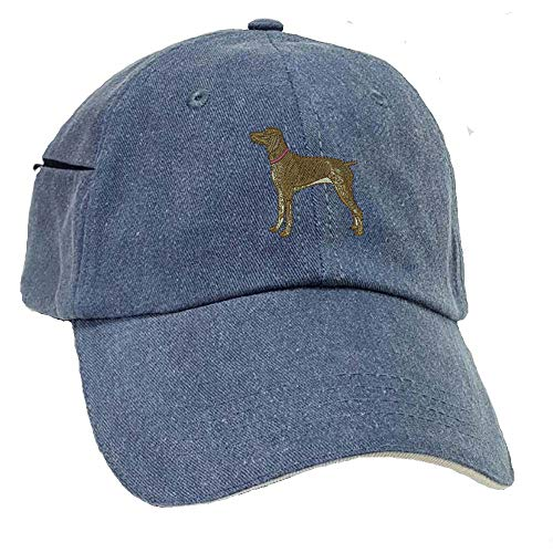 YourBreed Clothing Company German Short-Haired Pointer Low Profile Baseball Cap with Zippered Pocket.