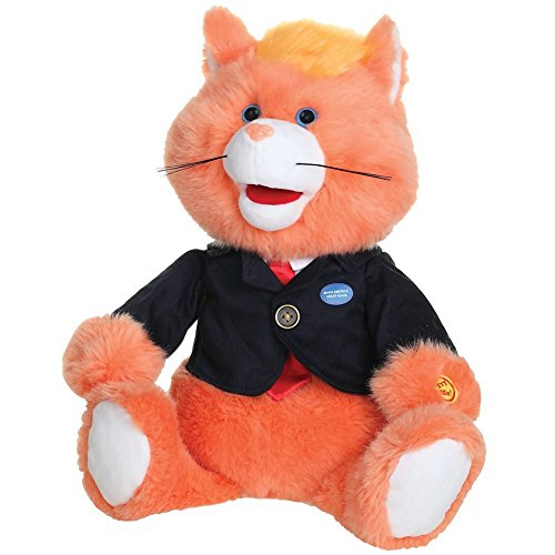 NIKA INTERNATIONAL Donald Cat Like A President Trump Parody Plush, Orange
