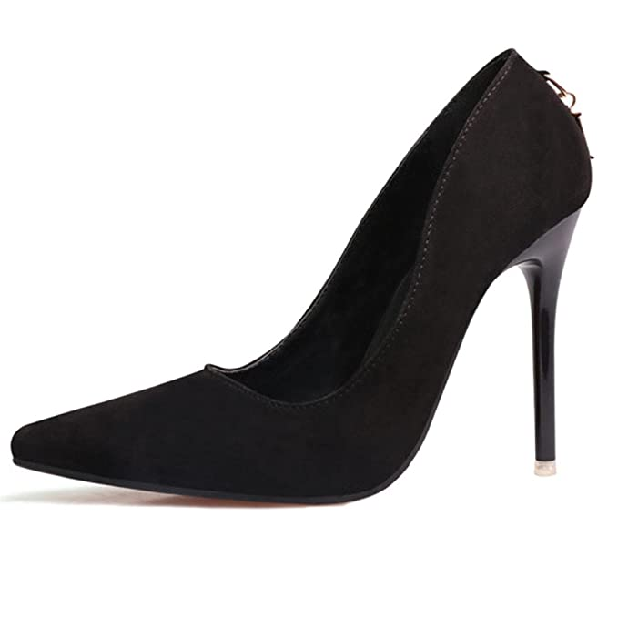 1d17e9a153ce Ladies Stiletto High Heel Pointed Court Shoes Work Shoes Clubbing Fashion  Simple Suede Pumps Pointed Sexy  Amazon.co.uk  Clothing