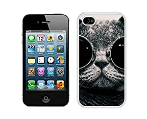 Personalized Christmas Cat White iPhone 4 4S Case 44