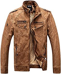 Amazon.com: Brown - Leather &amp Faux Leather / Jackets &amp Coats