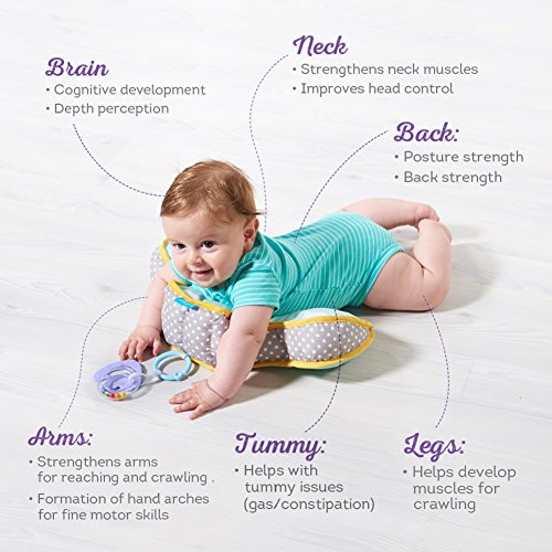 Taf Toys Baby Tummy Time Pillow Perfect For 2 6 Months Old Babies
