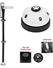 SlowTon Dog Bell, Adjustable Pet Door Bell and Press Bell Set Hunting Potty Bells for Dogs Toilet Training Strap Bell with 6 Loud Bells and Metal Bell Dog Pet Tool Communication Device for Cat Puppy