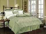 New Brand Great Home Decor Comforter, Queen, Sage