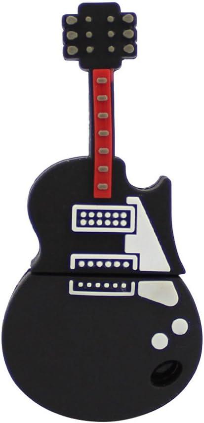 Usbkingdom USB 2.0 Flash Drive Dibujos animados guitarra forma material de pvc Pen Pen Drive Memory Stick Pendrive: Amazon.es: Electrónica