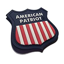 The American Patriot 3d Hell Yeah. PVC Morale Patch with Hook Backing.