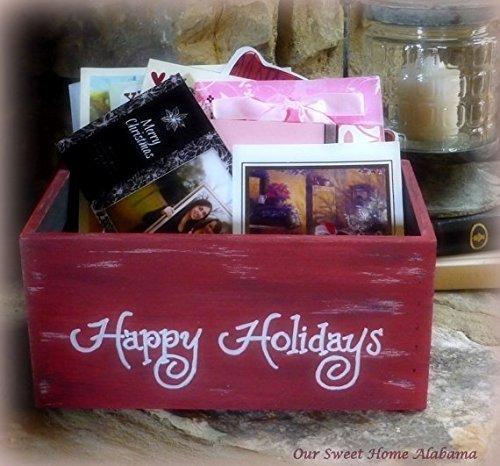 christmas card holder happy holidays cards box - Photo Holder Christmas Cards