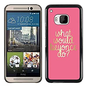 PC/Aluminum Funda Carcasa protectora para HTC One M9 what would musician do gold artist pink / JUSTGO PHONE PROTECTOR