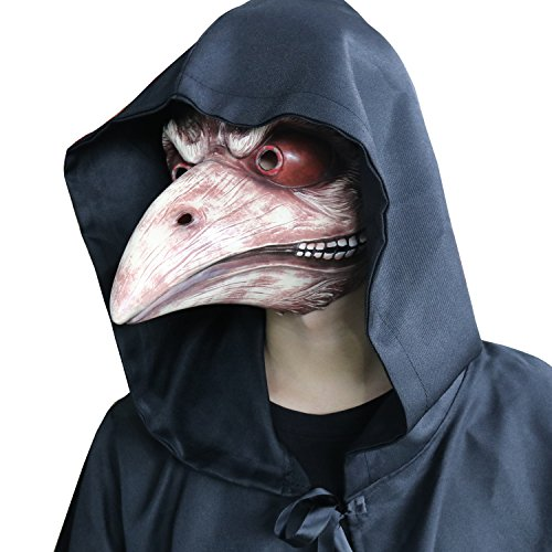 (FantasyParty Plague Doctor Latex Mask Bird Mask Beak Faux Gothic Retro Costume Props)