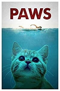 Amazon.com: Paws Classic Jaws Movie Parody Humor Poster ...