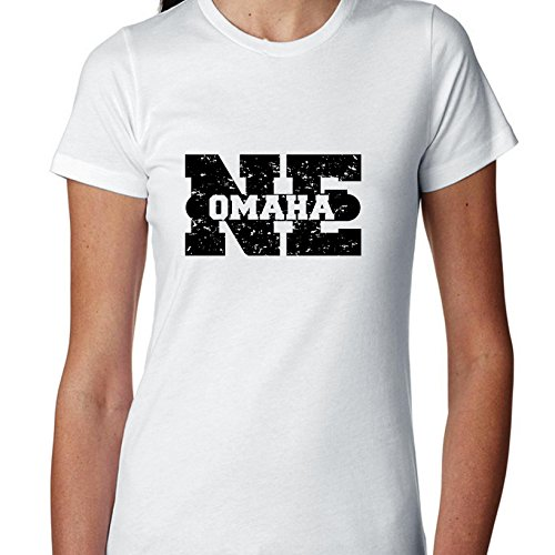 Omaha, Nebraska NE Classic City State Sign Women's Cotton T-Shirt
