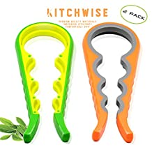 Jar Opener 2 Pack, Kitchen Grippers To Remove Stubborn Lids, Caps and Bottles