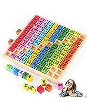O-Kinee Trämatematikleksak, matematik lärande leksak, träräknebräda 1 x 1, trä multiplikationstabell, räkna räkna lärande, pedagogisk leksak gåva barn