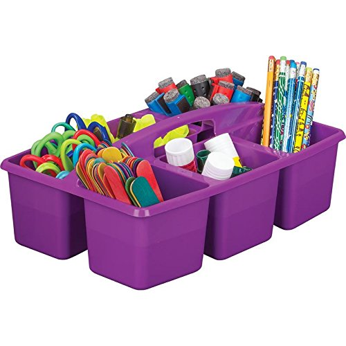 Really Good Stuff Six-Equal-Compartment Caddies (Primary, 6 Caddies)