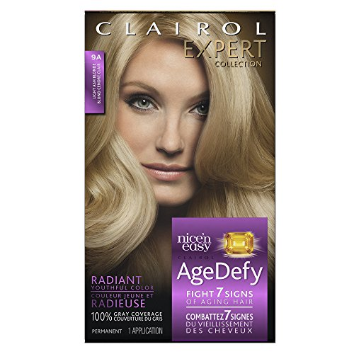 Clairol Age Defy Expert Collection, 9A Light Ash Blonde, Permanent Hair Color, 1 Kit (PACKAGING MAY (Clairol Skin Care)