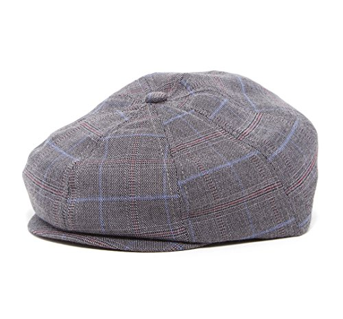 special-occasion-driver-cap-baby-toddler-kids-nb-42-cm-0-6m-grey-plaid-newsboy