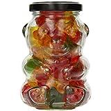 Luxury Gourmet Sweets Teddy Bear Glass Gift Jar with Gummy Bears