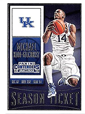 Michael Kidd Gilchrist basketball card (University of Kentucky Wildcats NCAA Charlotte Hornets) 2015 Contenders Draft Picks #71