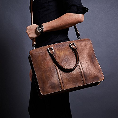 Handbag Office Shoulder Briefcase For Leather Cow Party Layer Ynxing Men's First Business Bag Messenger 87qzFnwZx4