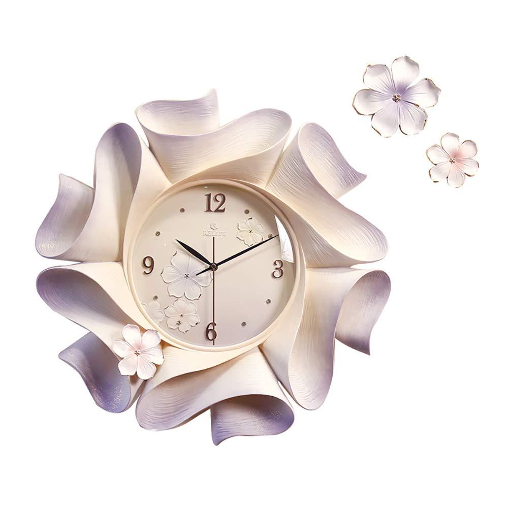 Jian E- 室内時計、クリエイティブエンボスヨーロッパの柱時計、リビングルームの時計、装飾的な柱時計、セルフクリーニング、大気時計/ 18インチ (色 : A)  A B07PY1SW23