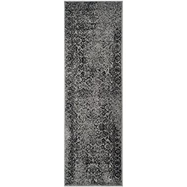 Safavieh Adirondack Collection ADR109B Grey and Black Runner, 2 feet 6 inches by 8 feet (2'6  x 8')