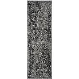 Safavieh Adirondack Collection ADR109B Grey and Black Oriental Vintage Distressed Runner (2\'6\