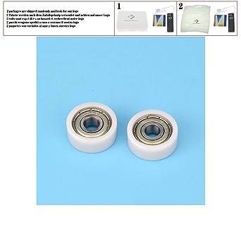 5 unids 6 * 20 * 8.5 mm F tipo plano polea rueda paquete nylon ...