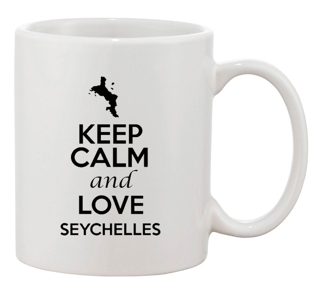 Amazon Com Keep Calm And Love Seychelles Country Map