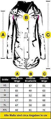 Marikoo B354 Chaqueta plumífero de invierno para mujer, cuello alto amarillo