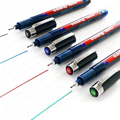 Edding 1800 Profipen Delineador Con Pigmento Rotulador De Dibujo – 0.5mm Juego De 4 – Negro, Azul, Rojo, Y Verde]