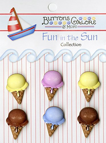 UPC 840934098144, Buttons Galore Fun in the Sun Ice Cream Cones Buttons