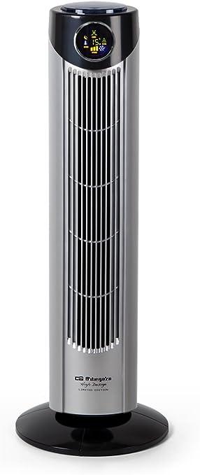Orbegozo TWM 1010 - Ventilador de torre, 3 velocidades, mando a distancia, 3 modos de ventilación, temporizador ...
