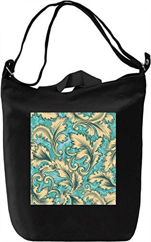 Leaf Print Borsa Giornaliera Canvas Canvas Day Bag  100% Premium Cotton Canvas  DTG Printing 