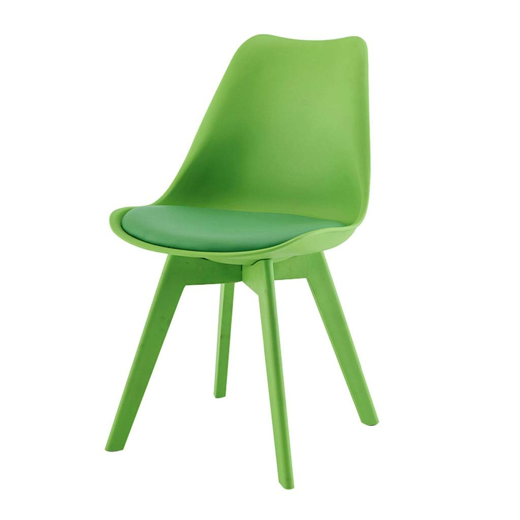 Green YXYH Nordic Plastic Tulip Dining Chair color Leisure Stool for Office Lounge Dining Kitchen Can Bear 150kg (color   Red)