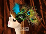 usongs Europe and America peacock feathers custom feather headdress hair trim clip hair accessories hairpin banquet choreography