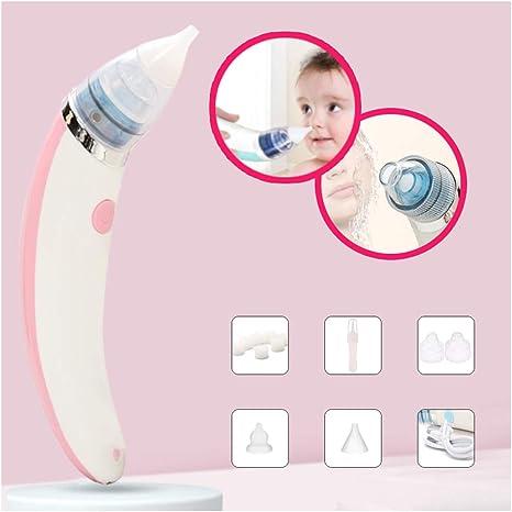 Aspirador Nasal Eléctrico Para Bebés, Punta Suave Operación Con Un Clic Aspirador Nasal Carga Inteligente 5 Niveles Ajustables Fácil De Quitar Y Lavar Pink: Amazon.es: Bebé