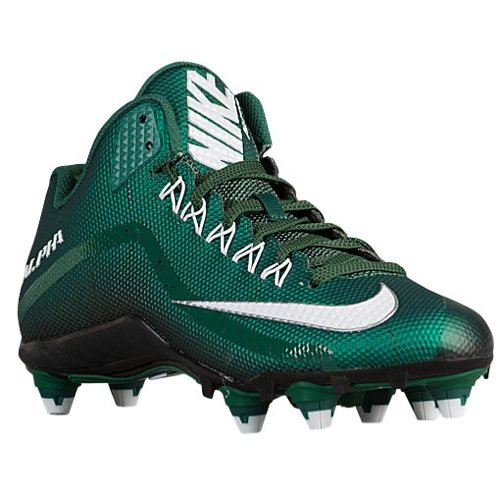Nike Alpha Pro 2 3/4 D Mens Football Cleat (10, Deep Forest Green White  Black)