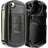 KeylessOption Keyless Entry Remote Key Fob Shell Case Button Pad Flip Key Cover Housing For Land Rover