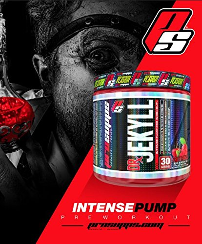 ProSupps Dr Jekyll Intense Pump Pre Workout Pikatropin Free Formula, Fruit Punch, 11.3 Ounce