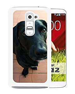 Unique DIY Designed Cover Case For LG G2 With Black Doggy Animal Mobile Wallpaper (2) Phone Case