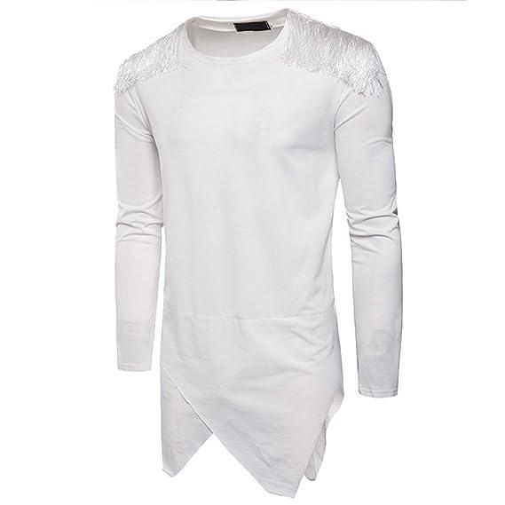 OHQ_Camisa Hombre Blusa OtoñO Moda 2018 Color Puro Conjunto Largo con Capucha Sudaderas con Mangas Pantalones