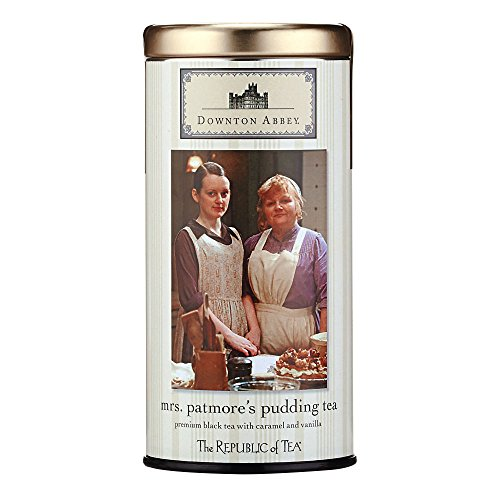 The Republic Of Tea Downton Abbey Mrs. Patmore's Pudding Tea, 36 Tea Bags, Gourmet Caramel Vanilla Black Tea
