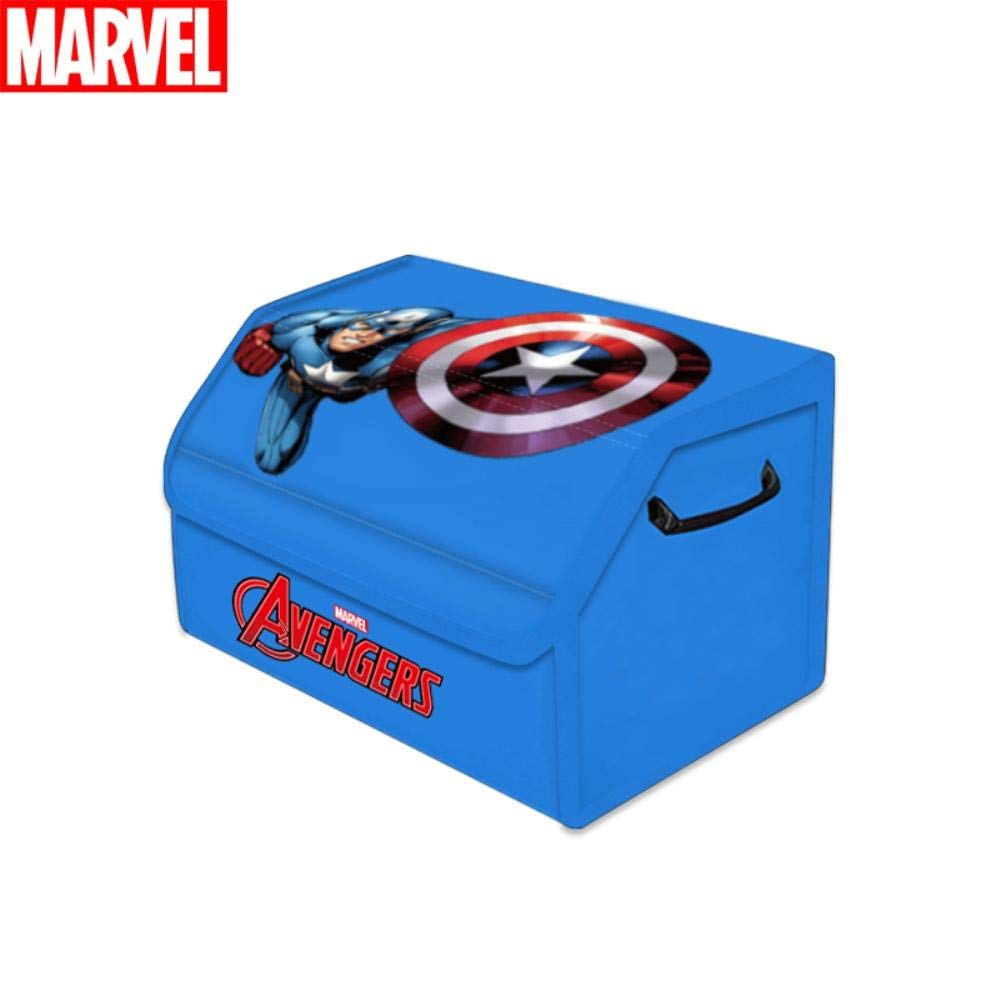 Black Panther Car Marvel Avengers Car Trunk Organizer Home and Office Collapsible Cargo Trunk Organizer Storage with Reinforced Handles for SUV Black