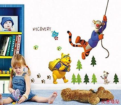 Kibi Disney Adesivo da Parete Winnie the Pooh e Amici Adesivi Murali Winnie the Pooh Stickers Murali Winnie the Pooh Stickers Murali Camerette Bimbi disney Adesivi Muro Winnie Pooh