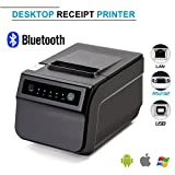 Thermal Receipt Printer,Standard USB 80mm POS Thermal Printer 300mm/second High-speed Printing with ESC / POS Printing Instruction Set,Bluetooth-Wifi(Optional) (With Bluetooth)