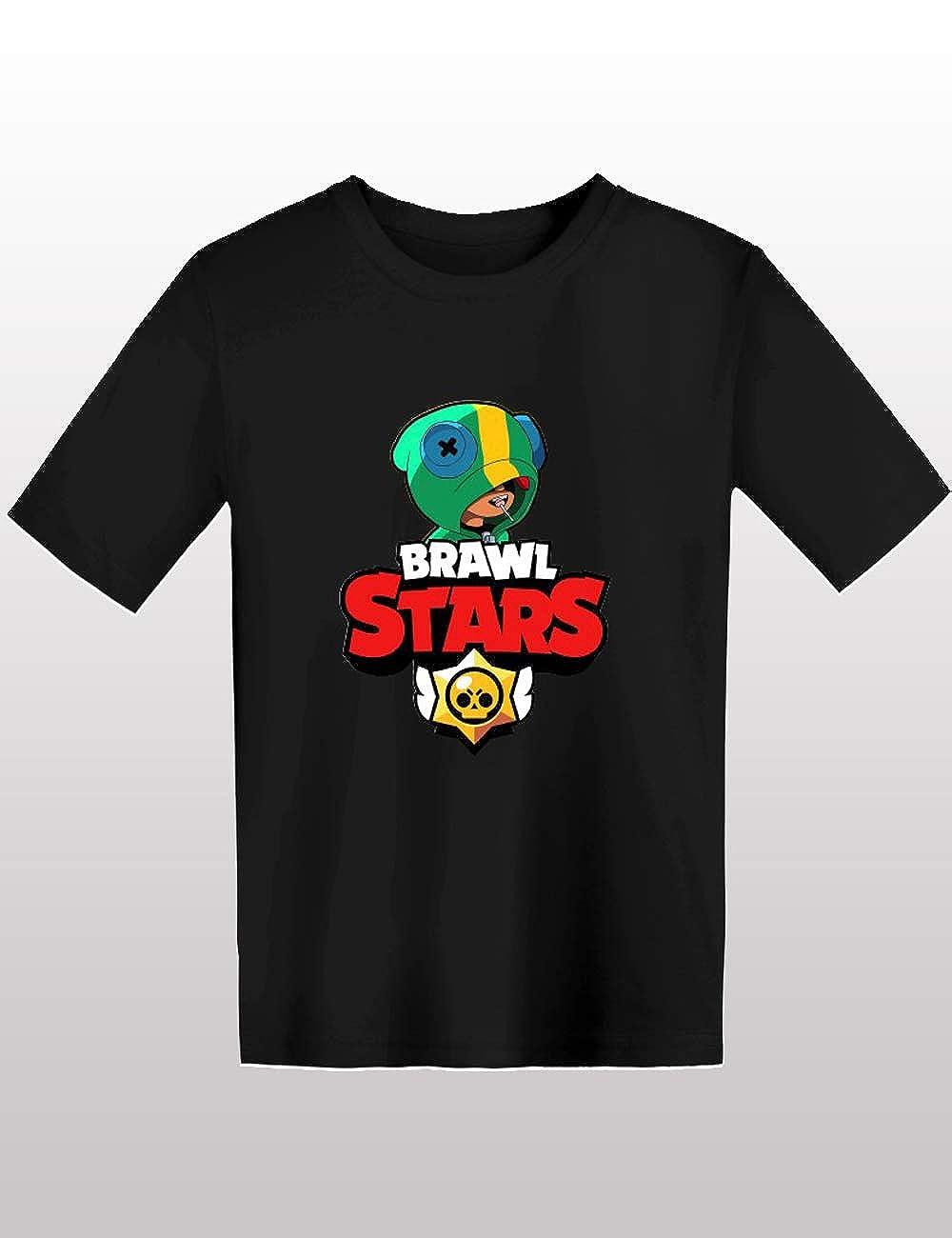 Casuale Uomo Maglietta Brawl Stars Maniche Corte Maglia con Stampa 3D Tinta Unita Estate Tee T-Shirt Camicia Tops Camicetta Blusa Maglietta da Ragazzo Bambini