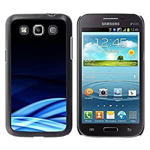 Be Good Phone Accessory // Dura Cáscara cubierta Protectora Caso Carcasa Funda de Protección para Samsung Galaxy Win I8550 I8552 Grand Quattro // Blue Lines Waves Abstract Cold