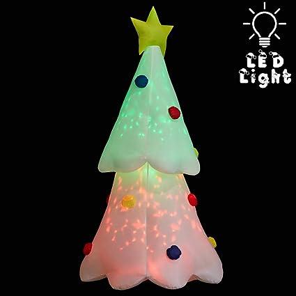 Amazon.com: Superjare - Árbol de Navidad inflable de 6 pies ...