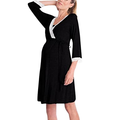 142afb180fa Image Unavailable. Image not available for. Color: Hemlock Pregnant Women  Dress Baby Nursing Dress Long Sleeve Maternity Dress Pajamas Evening Party  ...