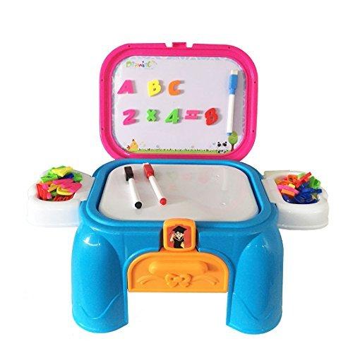 Lernen Set Magnettafel mit Tisch Spielzeug zum Zeichnen und Lernen für Kinder ab 3 Jahren